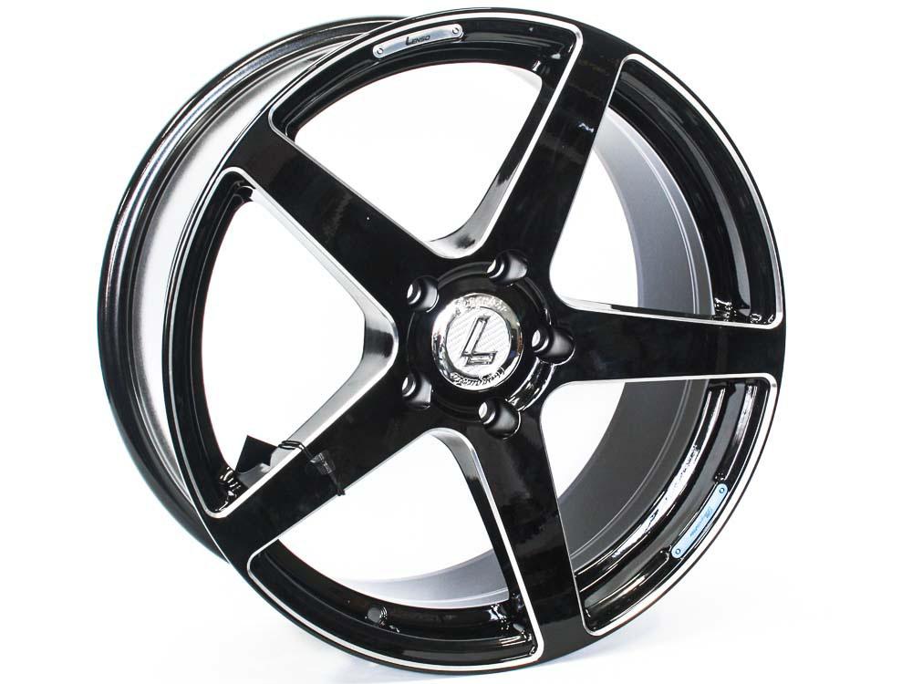18″ Lenso Conquista7 5/120 BKML Alloy Wheels