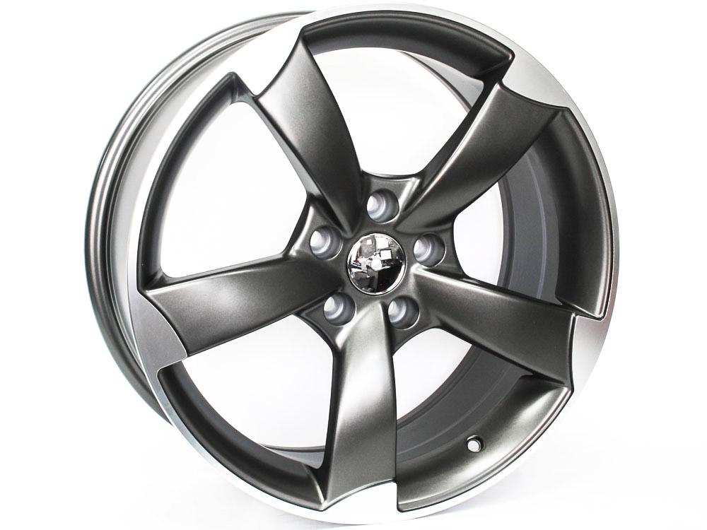 18″ Axe RS3 Dark Grey 5/112 Alloy Wheels