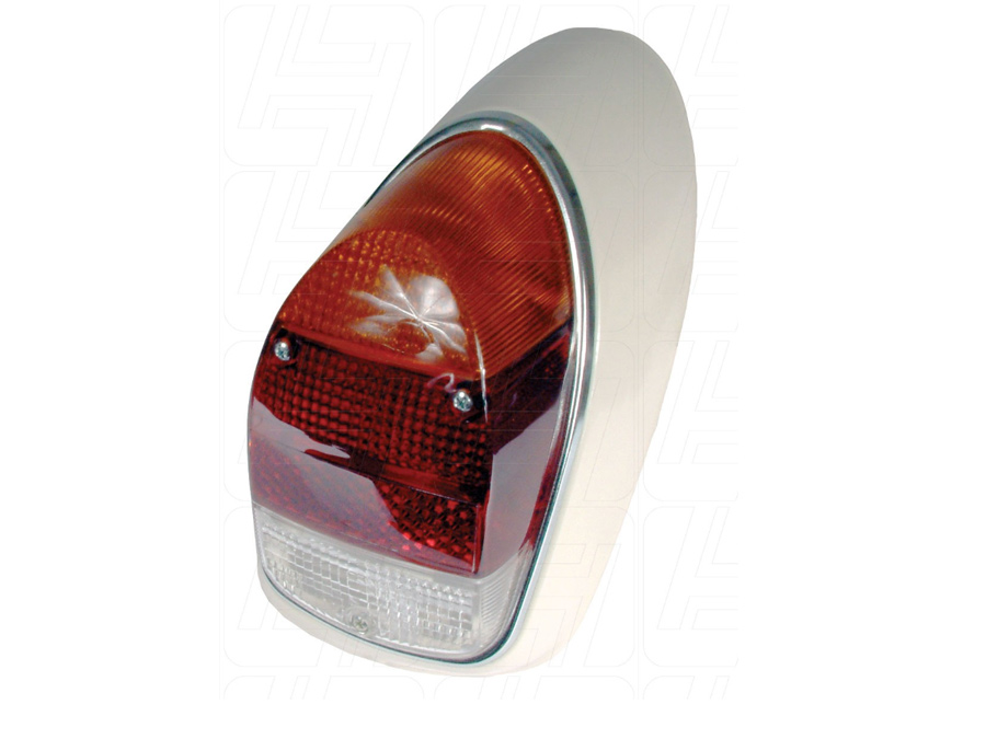 VW Beetle 1968-1973 Complete Rear Light Right with Amber Clear and Red Lens