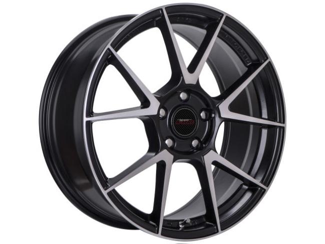 18″ A-Line Bastille 5/108 STBLK Alloy Wheels