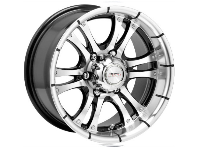 14″ A-Line Fear 6/139 BKMF Alloy Wheels