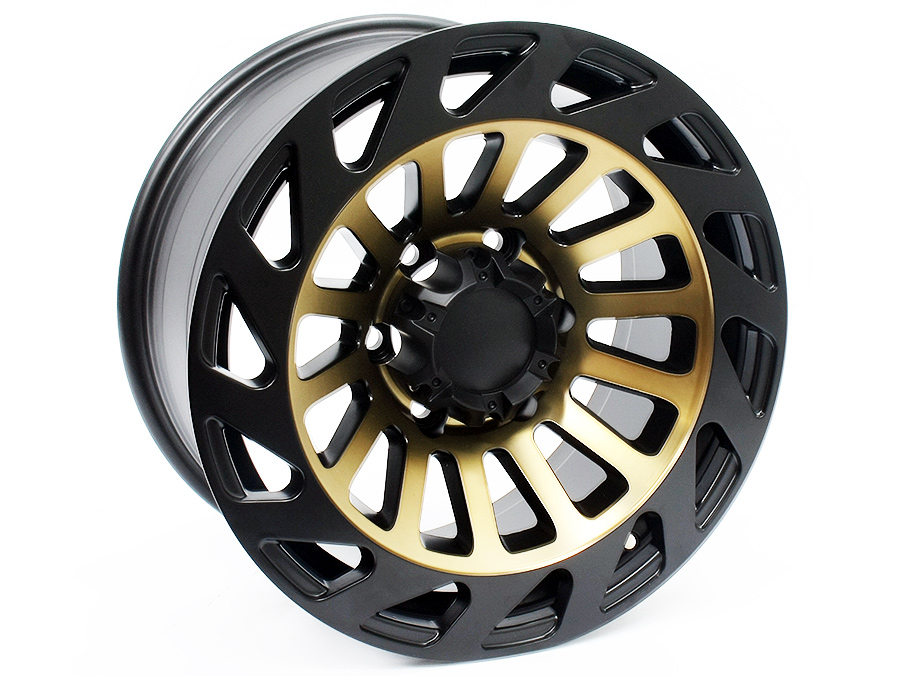 17″ LGS28 6/139 Black & Bronze Alloy Wheels