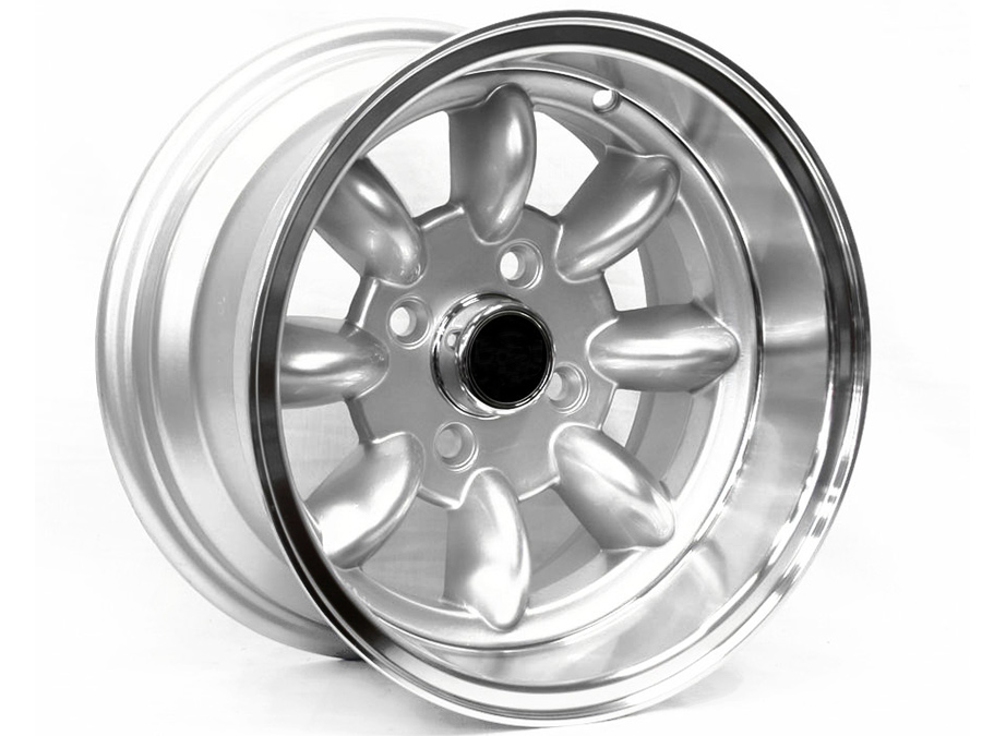13″ Evo Mini Lite 4/101 Silver Alloy Wheels