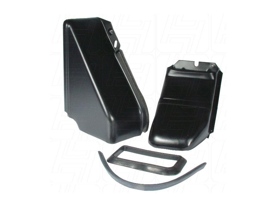 VW Aircooled Doghouse Tin Set 2 Piece Black 1300-1600cc
