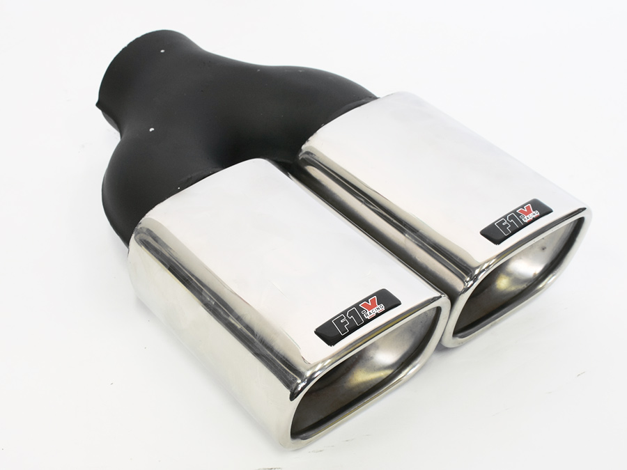 F1X Twin Square Exhaust Tailpipe
