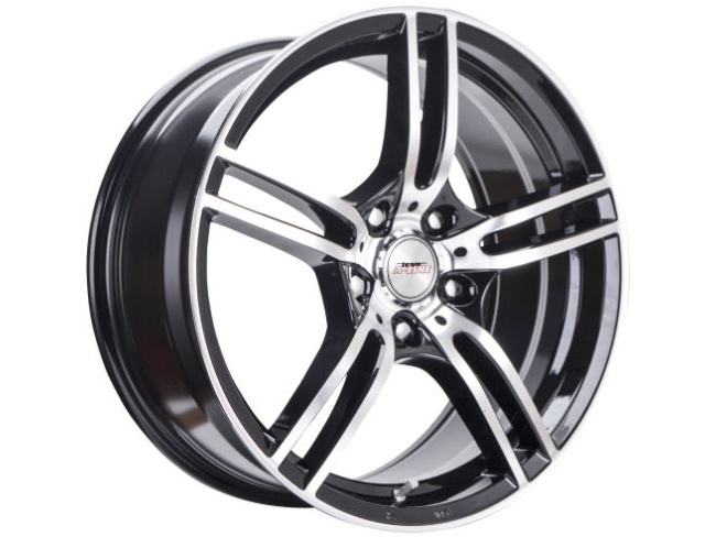 14″ A-Line Destiny 4/100 & 4/108 Black Machine Face Alloy Wheels