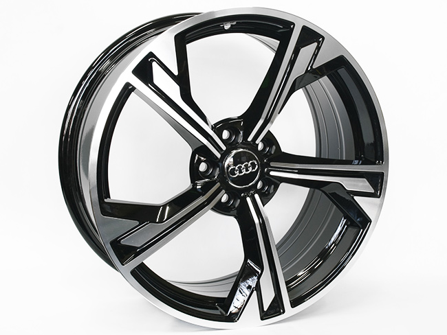 19″ QS RS7 Style 5/112 Black Machine face Alloy Wheels