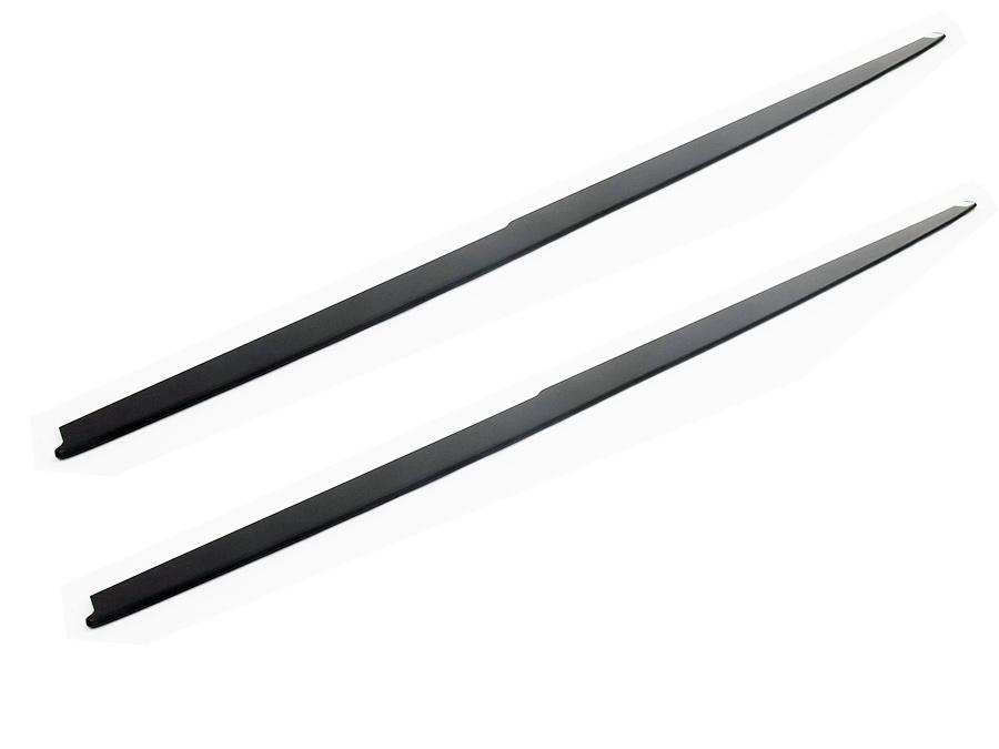 Suitable for F30/F32 Slimline Matt Black Side Skirts (pair)