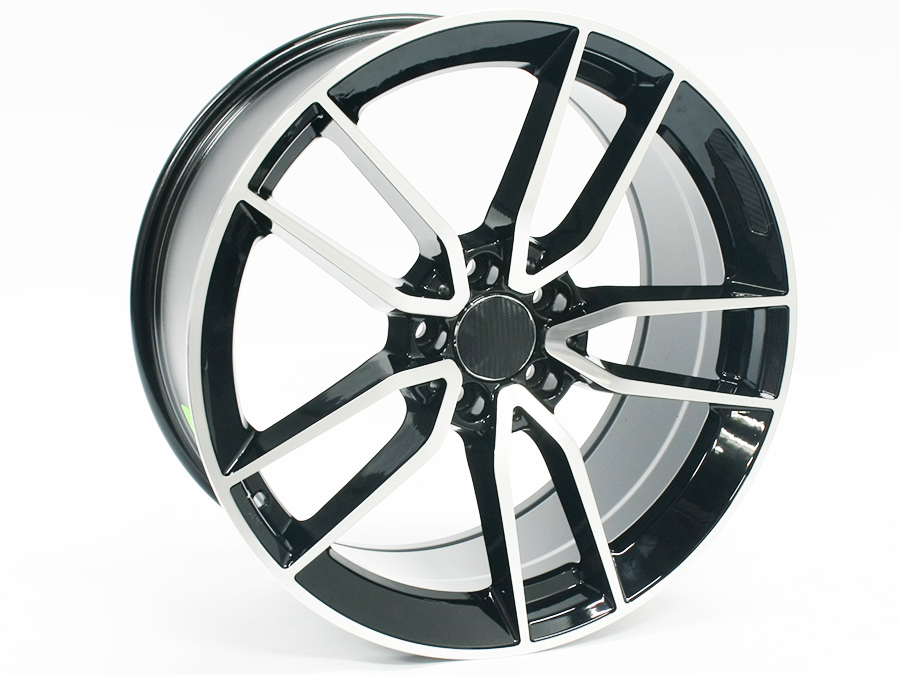 19″ SM5461 5/112 Black Machined Face Alloy Wheels