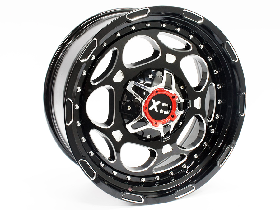 20″ R-Line JH0002 6/139 Black Alloy Wheels