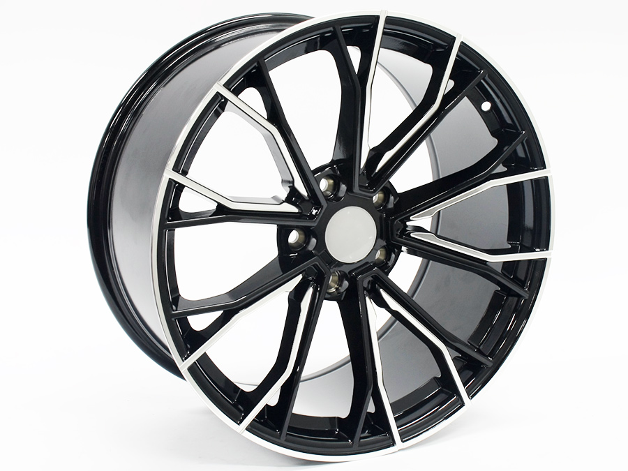 19″ R-Line RSR104 Black Machined Face Alloy wheels