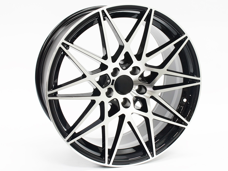 20″ R-Line 1357 5/120 Black Machined Face Alloy Wheels