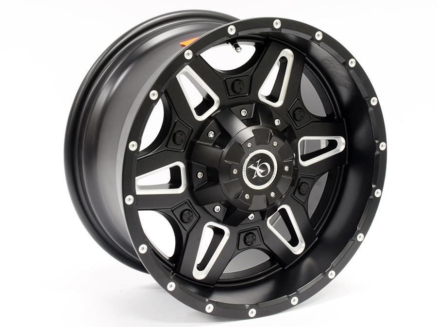16″ M1981 6/139 Black Alloy Wheels