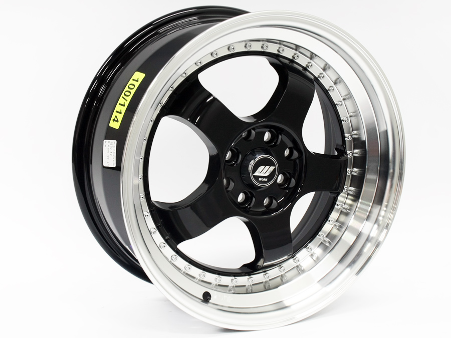 17″ QS Meister 4/100 & 4/114 Black Machine Lip Alloy Wheels