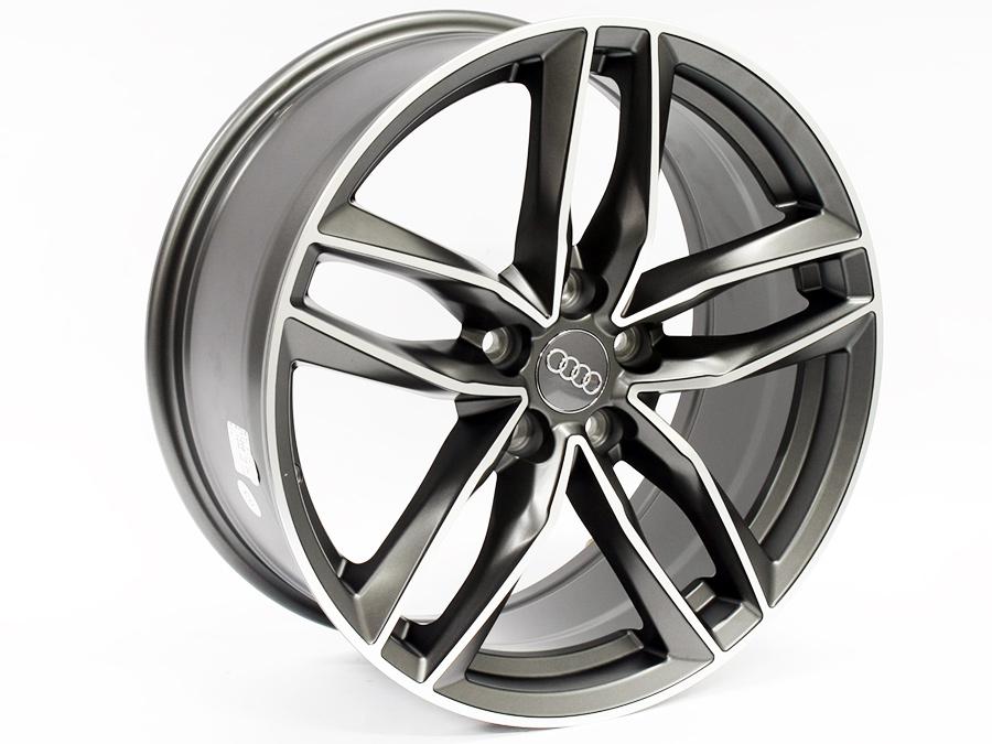18″ Evo RS6 Style 5/112 Dark Gunmetal Alloy Wheels