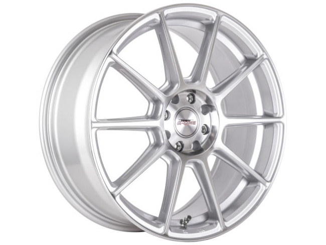 15″ A-Line Spree 5/100 & 5/114 Super Silver Machined Face Alloy Wheels