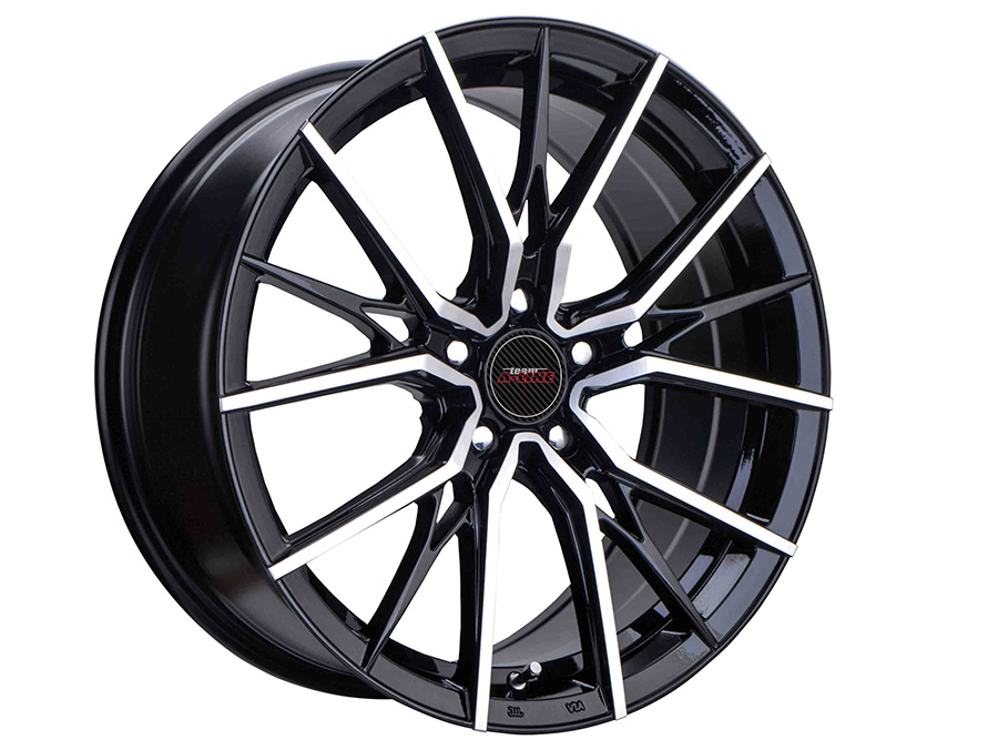 17″ A-Line Menace 5/114 Black Machined Face Alloy Wheels