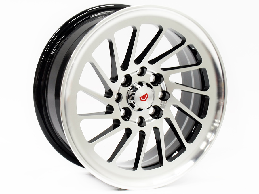 14″ ST Valiant 4/100 & 4/108 Black & Silver Alloy Wheels