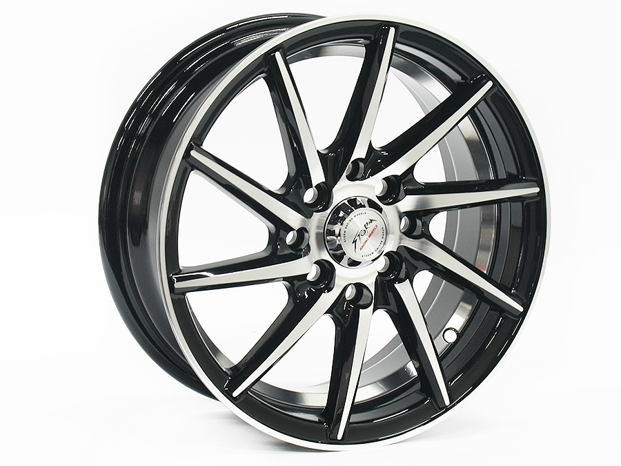 14″ ST Totem 4/100 & 4/114 Black Alloy Wheels
