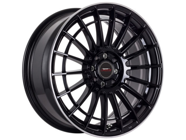 18″ A-Line Linea 5/114 Black Machined Lip Alloy Wheels
