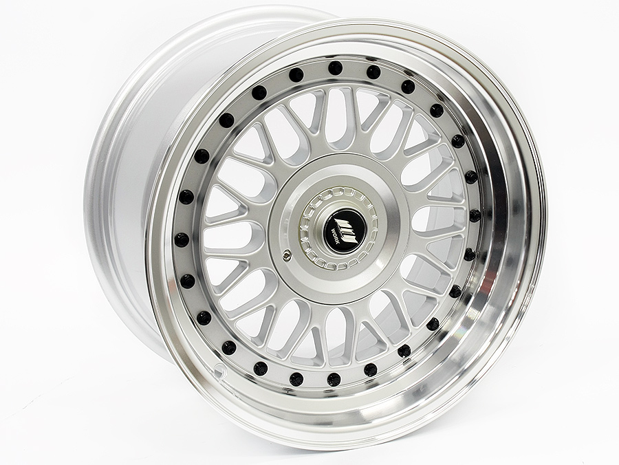 15″ Axe Blaze B 4/100 & 4/114 Silver Machined Lip Alloy Wheels