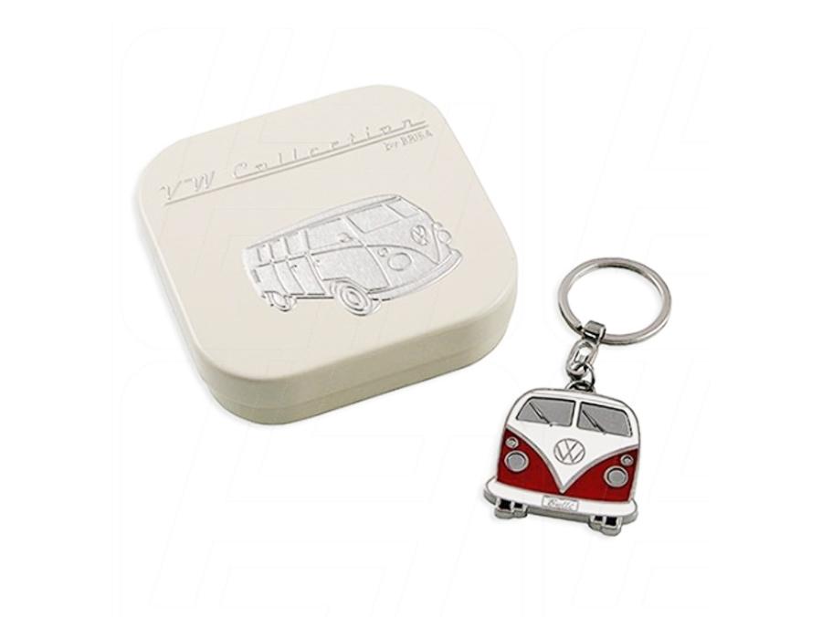 VW Keyring Red and White Enamel Splitscreen Bus with Gift Box