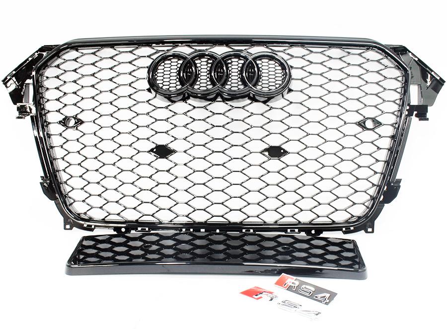 Audi A4 B8 2013 RS4 Design Black Mesh Grille Kit