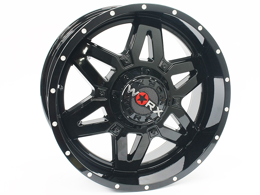 20″ R-Line TA004 6/139 Gloss Black Alloy Wheels