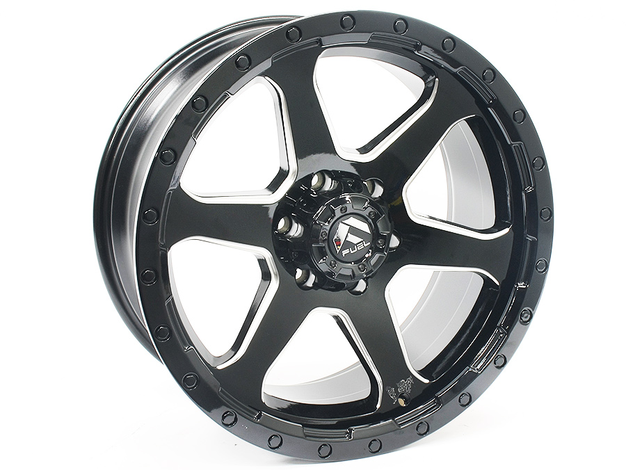 20″ M2502 6/139 Black Alloy Wheels