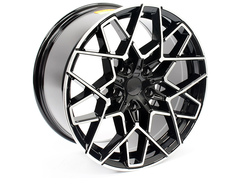 19″ 5607 5/120 Black Machined Face Alloy Wheels