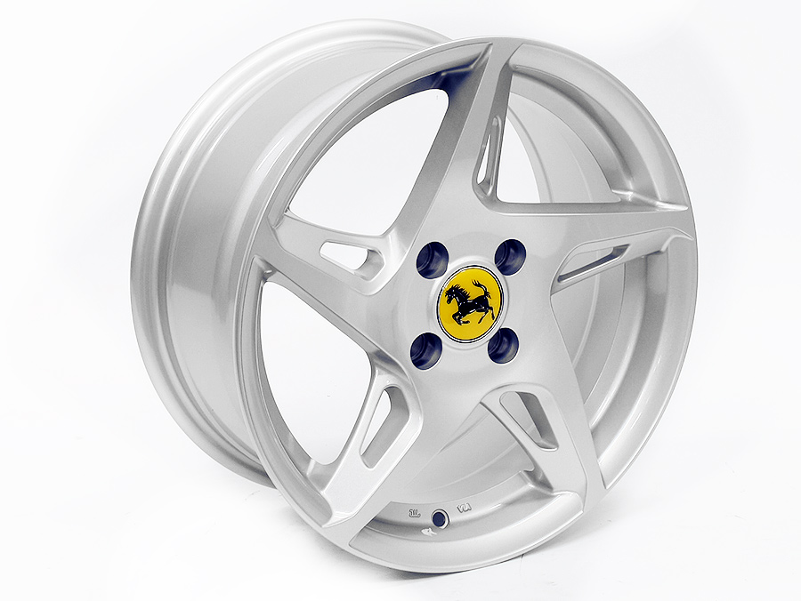 15 Sm5022 Ferrari Style 4 100 Silver Alloy Wheels Junk Mail