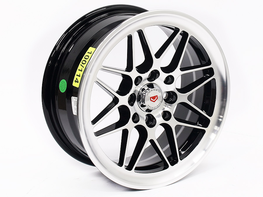 14″ ST Vortex 4/100 & 4/114 Black & Silver Alloy Wheels