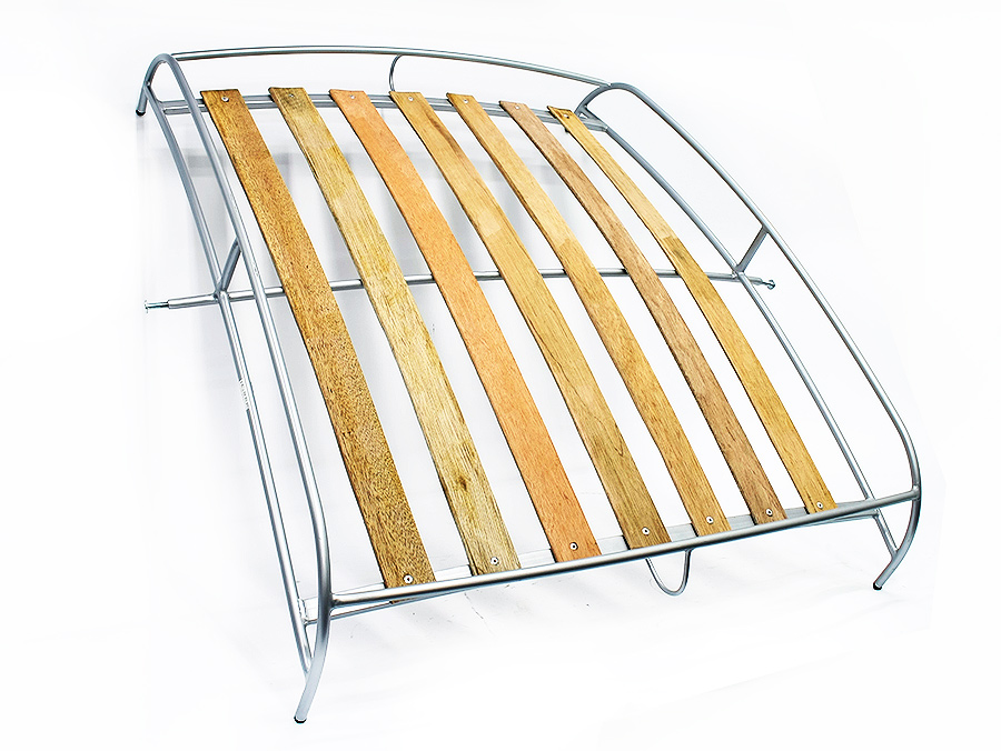 VW Classic Beetle Roof Rack Basket with Wooden Slats