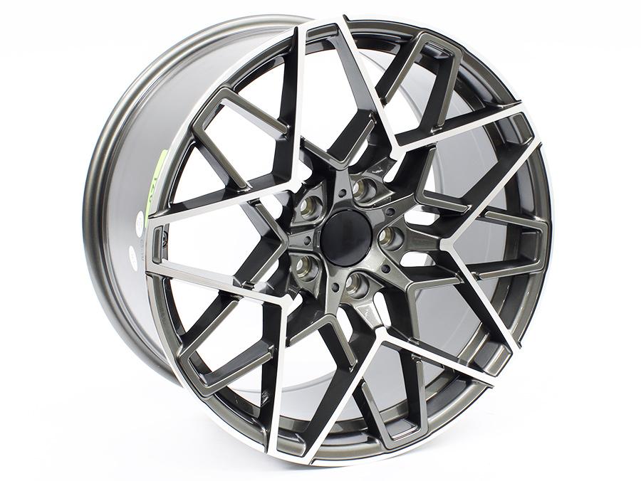 20″ R-Line 972 5/120 Gunmetal Machine Face Alloy Wheels
