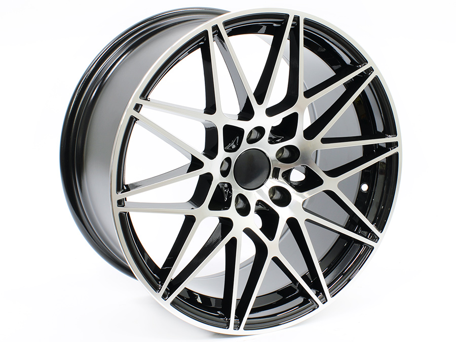 18″ R-Line 1357 5/120 Black Machined Face Alloy Wheels