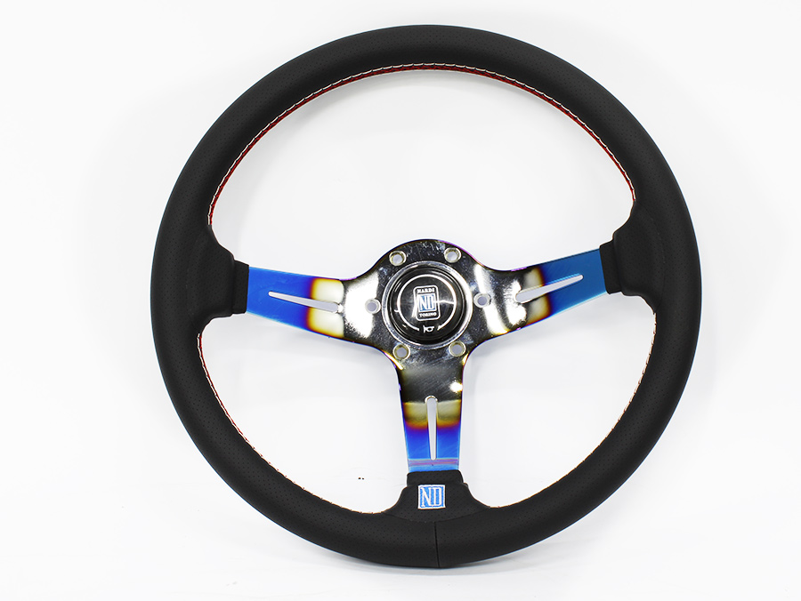 Nardi Black with Anodized Burn Look Design Sports Steering Wheel