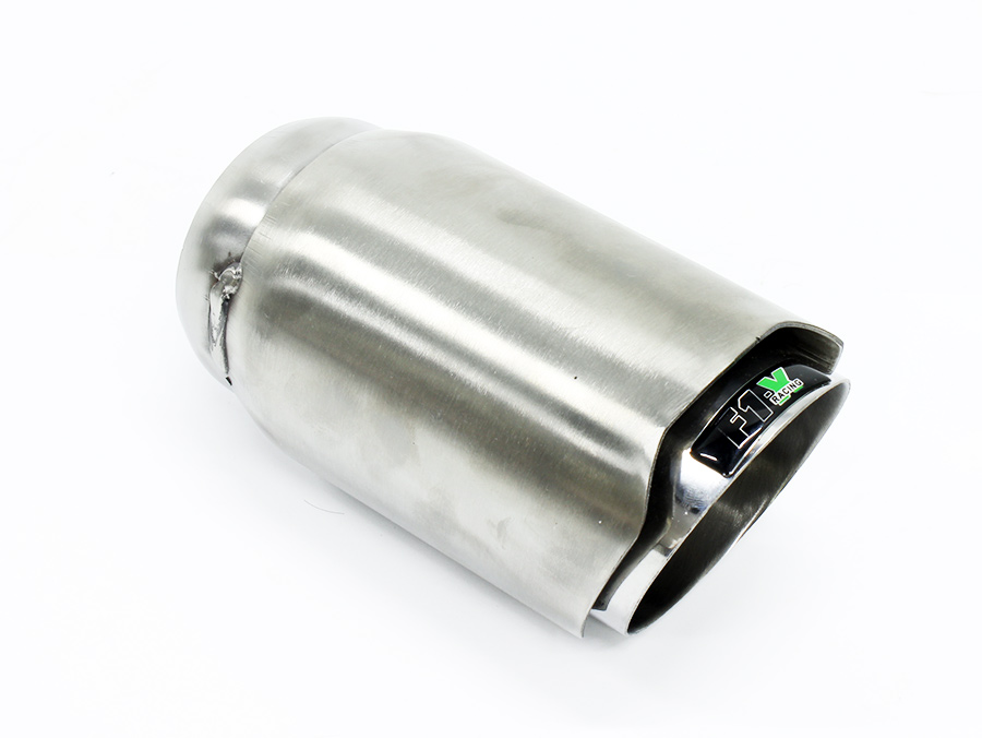 F1X Bolt 90mm Silver Exhaust Tailpipe