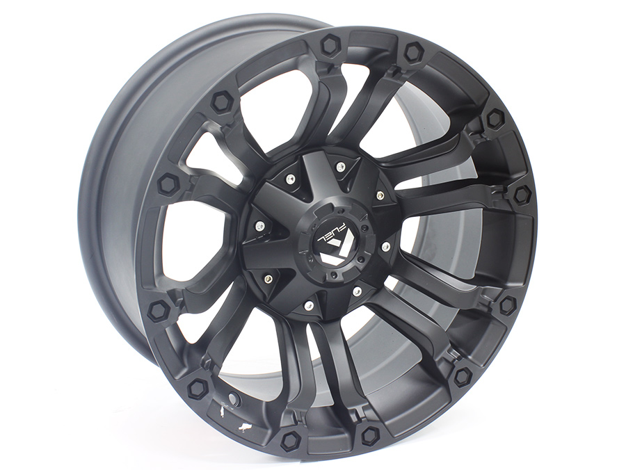 16″ Axe Crusher 6/139 Satin Black Alloy Wheels