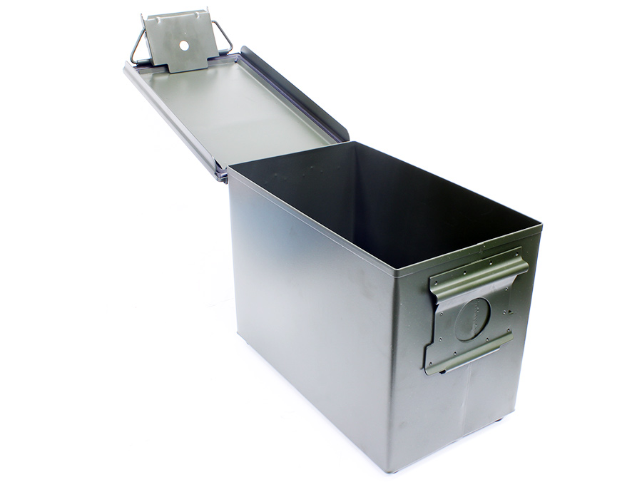 Metal Flip-Top Ammunition Storage Box