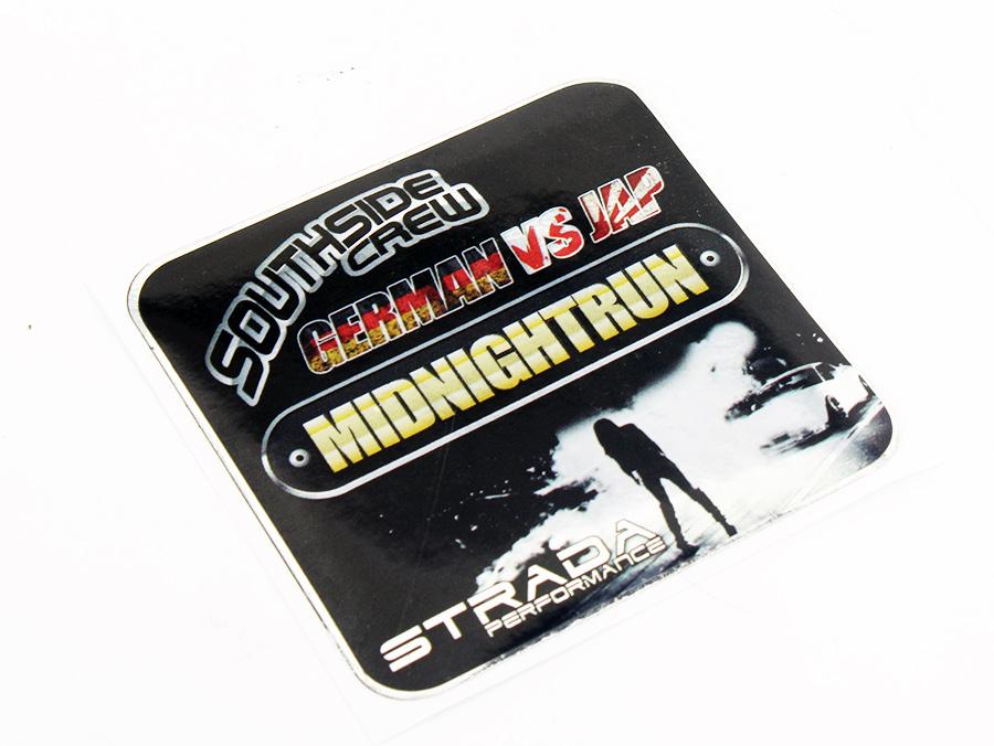 South Side Crew Germany vs Japan Midnight Run Vinyl Sticker