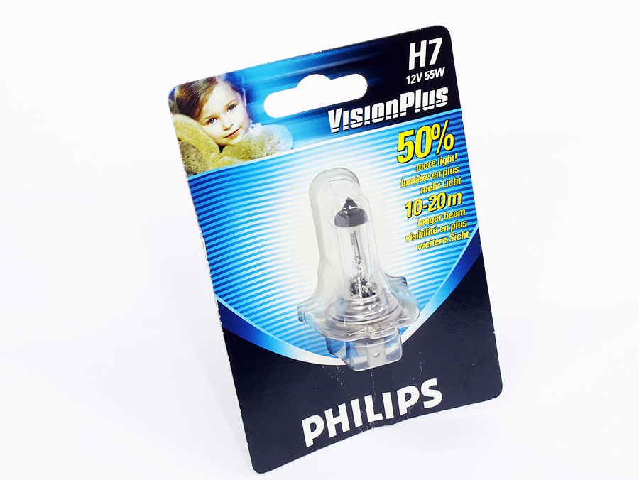 Philips Vision Plus H7 Headlight Bulbs (ea)