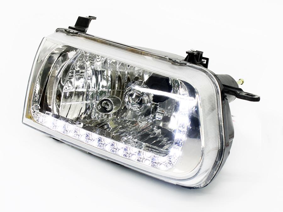 Toyota Tazz DRL Chrome Headlights (pair)