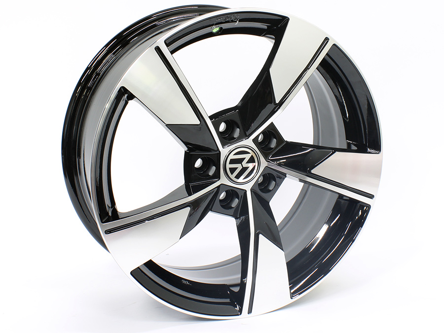 17″ M2831 5/112 Black machined Face Alloy Wheels