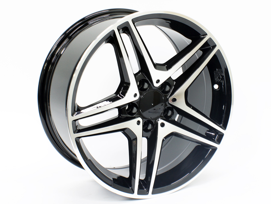 17″ IVD 8294 5/112 Black Machined Face Alloy Wheels