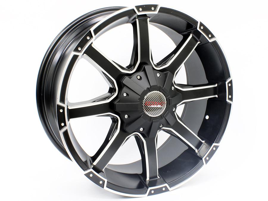 20″ A-Line ESP 5/120 Satin Black Machined Face Alloy Wheels