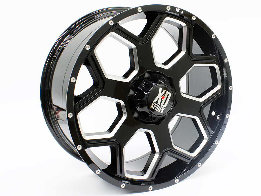 20″ R-Line TA003 6/139 Gunmetal Machine Face Alloy Wheels