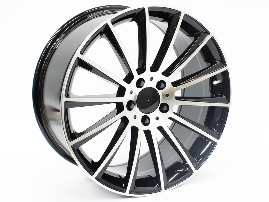 19″ Axe MC-40 5/112 Black & Silver Alloy Wheels