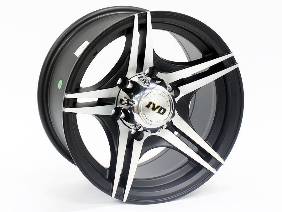 15″ IVD 5349 6/139 Matt Black with Machined Face Alloy wheels