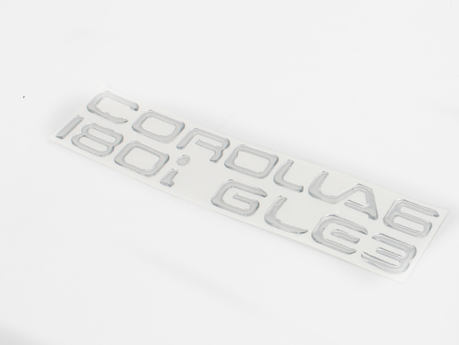 Corolla Gel Dome Sticker Badge