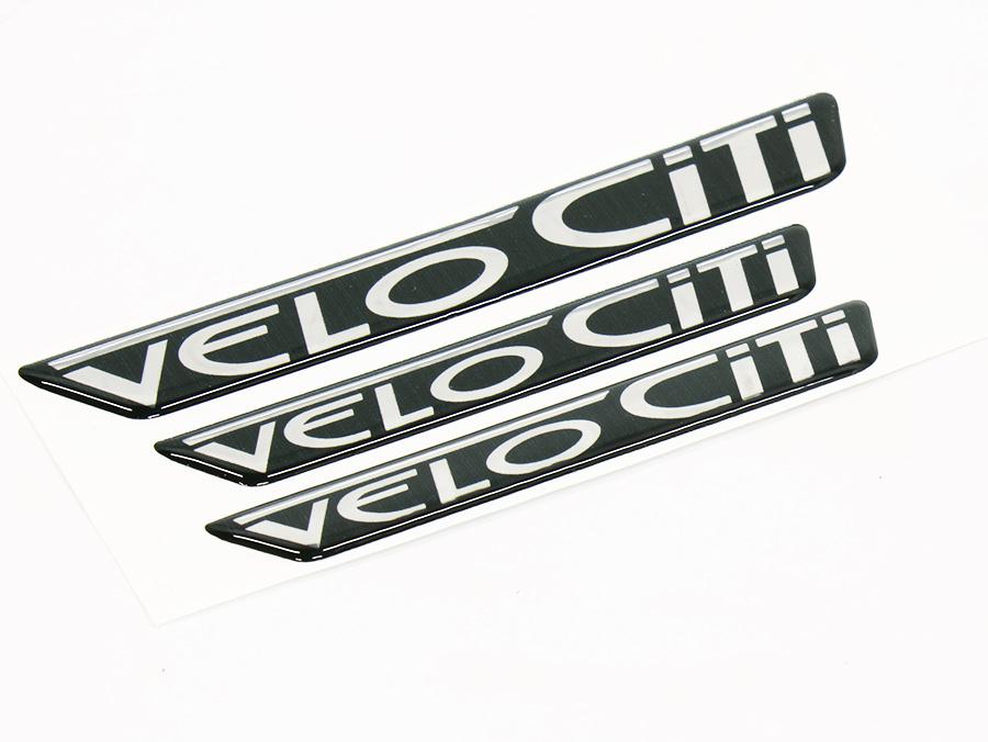 Velociti 3 piece Gel Dome Sticker Set